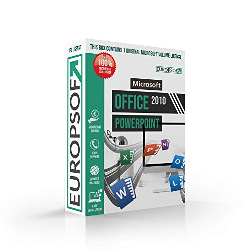 Microsoft® Powerpoint 2010 DVD mit original Lizenz. Europsoft Box. Papiere & Zertifikate. Alle Sprachen 32 & 64bit
