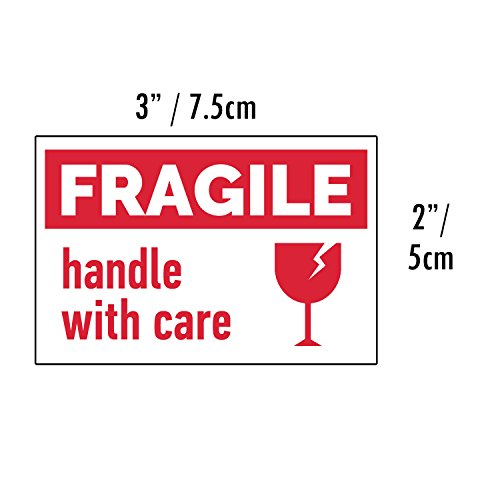 Etiqueta Frágil Fragile Handle With Care 500 pegatinas