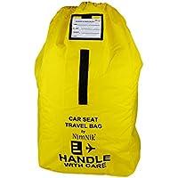 Asiento de coche bolsa de viaje - Nylon balístico ultra robusto, mejor para el aeropuerto, control de la puerta del avión, correa de hombro acolchado cómodo y llevar la manija, amarillo