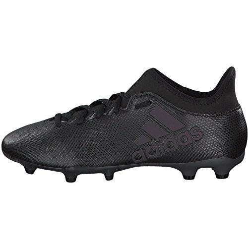 adidas Herren X 17.3 FG Fußballschuhe, Weiß, 16 EU Schwarz (Cblack/Cblack/Supcya Cblack/Cblack/Supcya)
