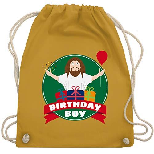 Weihnachten & Silvester - Ugly Christmas I Jesus Birthday Boy - Unisize - Senfgelb - WM110 - Turnbeutel & Gym Bag