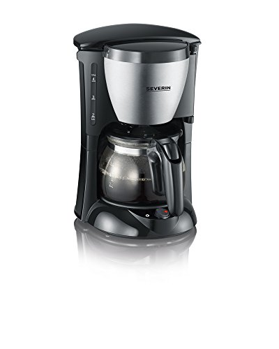 Severin KA 4805 Kaffeeautomat (650 Watt, 0,46 L, Automatische Abschaltung) Edelstahl gebürstet/schwarz (Kaffeemaschine Abschaltung Automatische)