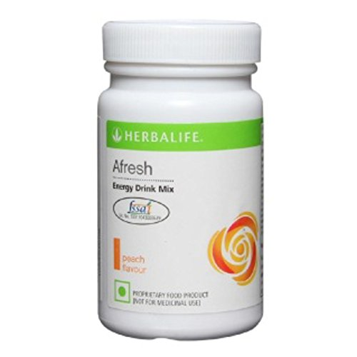 herbalife Afresh Energy Drink Mix -Peach- 50 gms  available at amazon for Rs.499