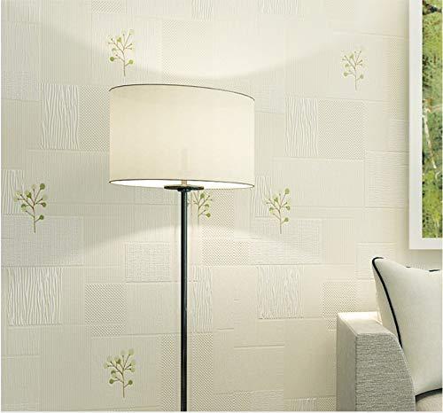 JXArt Moderne Einfache Tapete Elegantes geometrisches Quadrat beige Luxus Vlies 3D Optik Dekor für Wohnzimmer Schlafzimmer Kinderzimmer Mädchen volle Rolle, 0.53x10m -