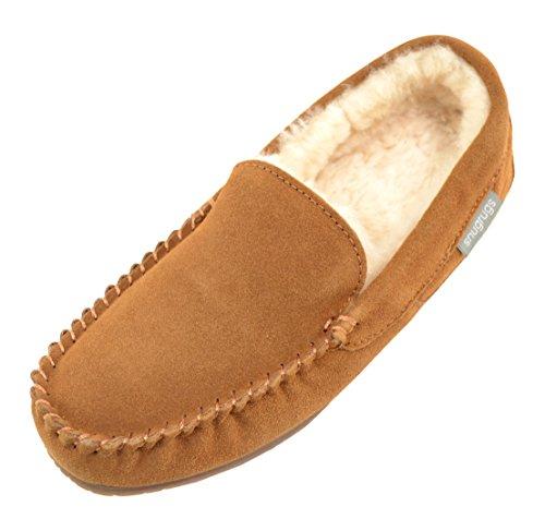 Pantofole Snugrugs Uomo Samuel Sheepskin Brown (castagna)