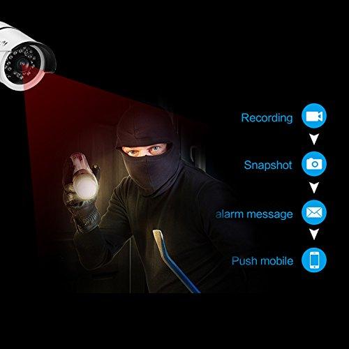 Vimtag® Wi-Fi ProHD esterno senza fili di sicurezza IP Bullet telecamera Weatherproof, monitoraggio video, giorno notte IR-CUT, rilevamento di movimento Spinga avvisi, istantaneo di collegamento/Registrazione Video, in tempo reale delle notifiche Push App (b1-c Bianco)