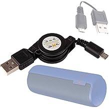 DURAGADGET Cable De Carga Para Logitech UE MegaBoom / Boom / Mini Boom / BoomBox- Conexión USB A Micro USB - ¡Extensible!