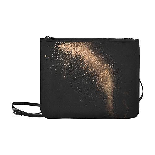 WOCNEMP Brown Skein Powder Explosive Pattern Benutzerdefinierte hochwertige Nylon Slim Clutch Crossbody Bag Umhängetasche - Pulver-applikator