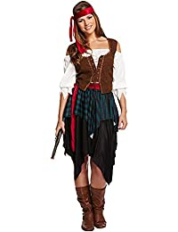 Adult Lady Caribbean Buccaneer Pirate Womens Fancy Dress Costume