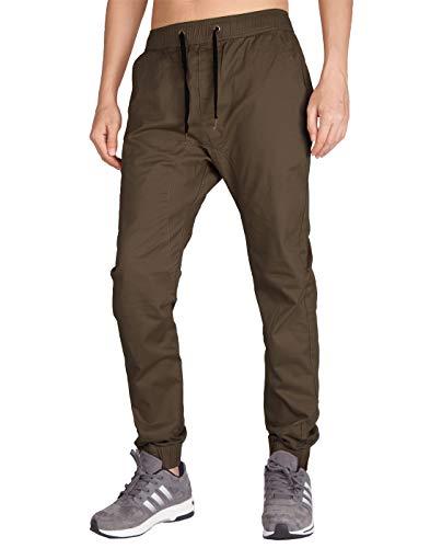 Italy Morn Uomo Pantaloni pantaloni Chinos Kinny cachi con cavallo basso mutanda casuale del Harem pantaloni weatPantaloni porta jogging XL