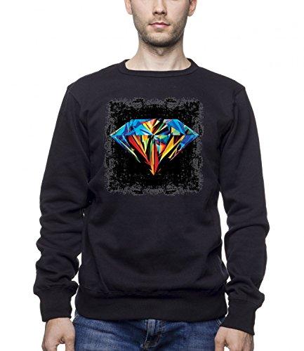 three-monkeys-diamond-abstract-art-mens-unisex-sweatshirt-noir-small