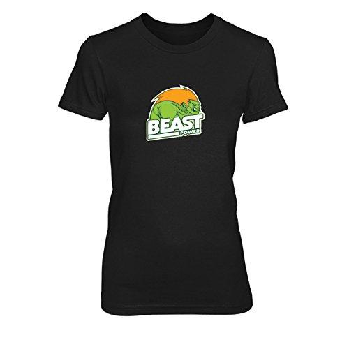 Beast Power - Damen T-Shirt, Größe: XL, Farbe: ()