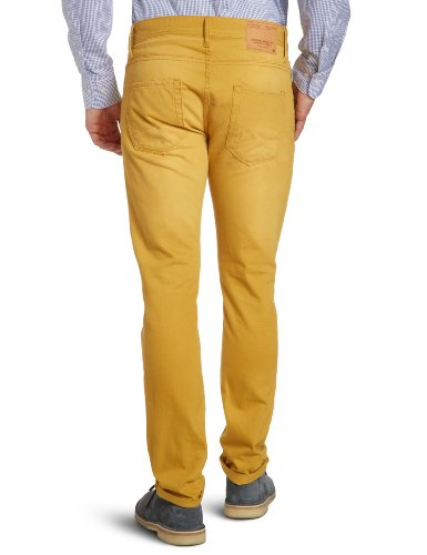 JACK & JONES Herren Jeans Skinny Normaler Bund TIM ORIGINAL Braun (HONEY MUSTARD)
