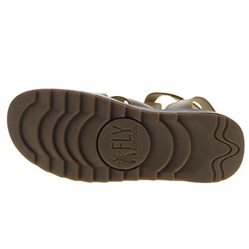 Fly London Womens KANE991FLY Platform Leather Sandals Marron