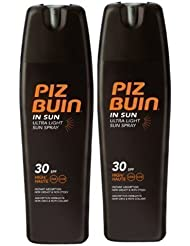 Piz Buin ultra légère Lotion solaire Sprays SPF30 x 2 - 200ml chaque