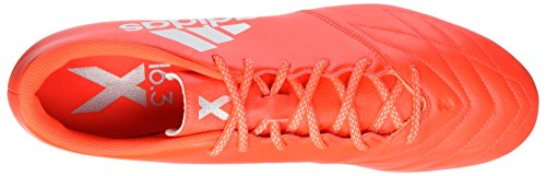 adidas X 16.3 Sg Leather, Chaussures de Foot Homme Rouge (Solar Red/silver Met,/hi-res Red)