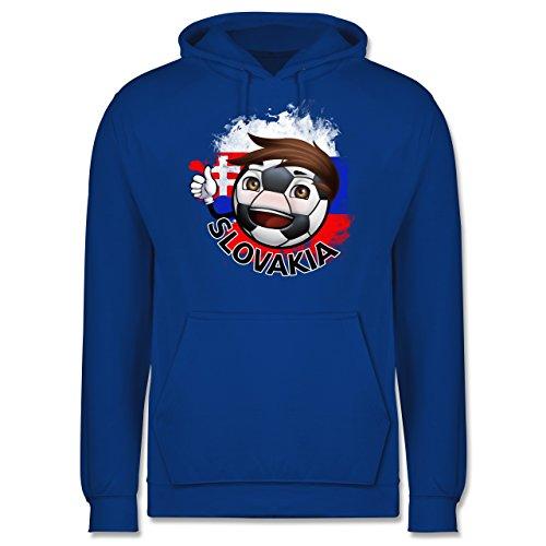 EM 2016 - Frankreich - Fußballjunge Slowakei - Männer Premium Kapuzenpullover / Hoodie Royalblau