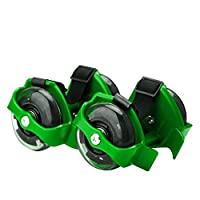 Hot Flash Roller Skate Shoes Scooter Flashing Wheels Toys for Kids - FHL-green