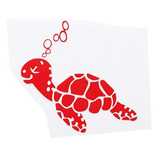 Idiytip Cartoon wasserdichte Schildkröte Auto Aufkleber Fenster Aufkleber für Laptop (rot) (Auto Schildkröte Aufkleber)