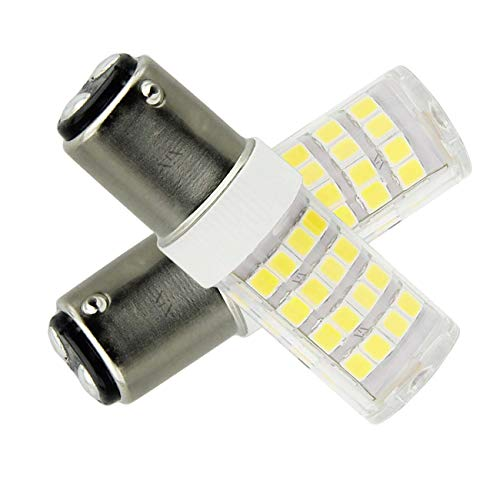 B15D LED-Lampe Glühlampe 4W LED Leuchtmittel, Nicht-Dimmbar, 350Lumen, 12V AC, 360 Grad Winkel, CRI> 80Ra, Ersatz für 45W B15D Halogenlampen Kaltweißem 6000K(2er Pack) -