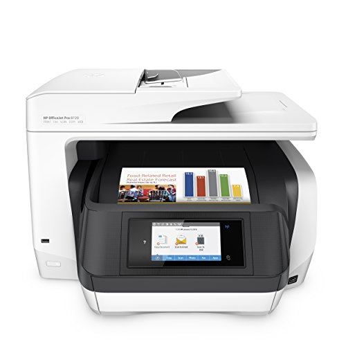 HP OfficeJet Pro 8720 MultifunktionsDrucker (Instant Ink, Drucken, Scannen, Kopieren, Fax, WLAN, LAN, NFC, Duplex, Airprint)