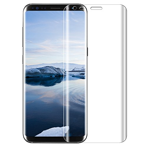 Tempered Samsung galaxy S8 Protection écran , KKtick Samsung galaxy S8 Protection écran Film Vitre avec Ultra Résistant Easy-Install HD Ultra protection verre trempé (1 Pack)-transparent 0712166680902