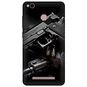 Xiaomi Mi Redmi 4A Guns Printed Hard Polycarbonate Designer Back Case Cover by Mobi Elite
