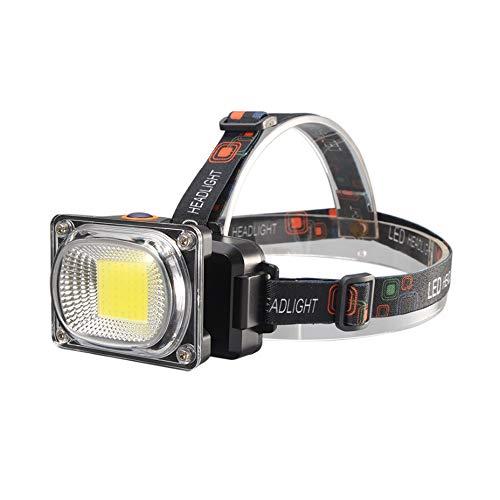 SYXX Neue LED-Head-mounted Wiederaufladbare Flood Hauptlicht, Taschenlampe mit hoher Helligkeit super helle im Freien Tragen Taschenlampe, LED-Outdoor-Arbeitsinspektion Licht, benutzt for Nachtbeleuch -