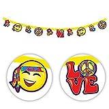 60de hippie Parti bannière Guirlande fanions de décoration à suspendre Love Peace 70Groovy Hippie Flower Power Austin