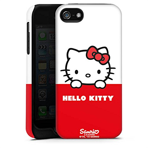 Apple iPhone SE Hülle Case Handyhülle Hello Kitty Merchandise Fanartikel Cute Kawaii Tough Case matt