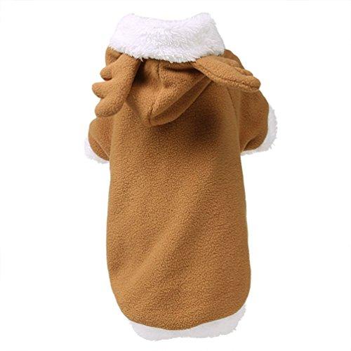 Rentier Pet Hundemantel mit Kapuze Medium Large Hund Weihnachten Kleidung, 5x große, braun (Weihnachts-märchen-kostüme)
