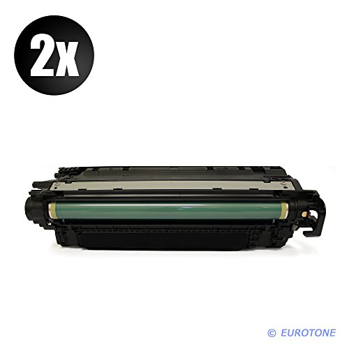 2x Eurotone Remanufactured Toner für HP LaserJet Enterprise 500 color M 551 575 wie CE400A 507A Black (Hp Laserjet Enterprise 500 M551xh)