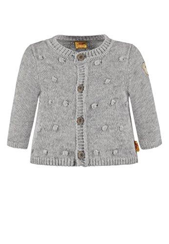 Grays Seide Pullover (Steiff Baby-Mädchen 1/1 Arm Strickjacke, Grau (Snow Grey Melange|Gray 8359), 86)
