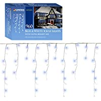 Christmas Workshop 79050 960 LED Icicle Chaser Lights - Blue/White