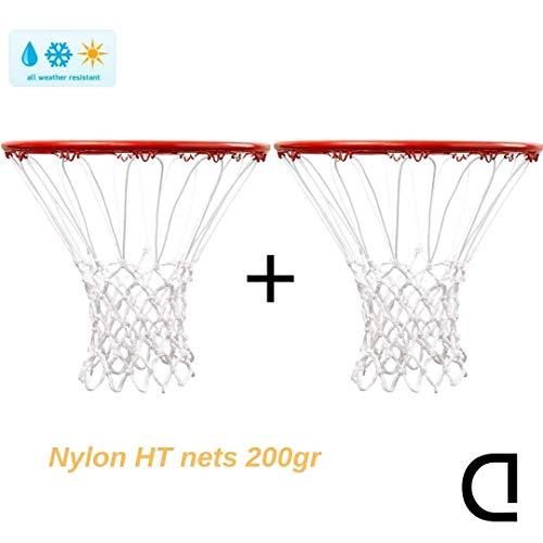 CDsport Retina da Basket per canestro, qualità Premium (Coppia Professionale, Pesante, Nylon 200gr)