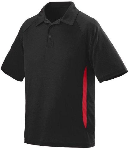 Augusta Herren Poloshirt schwarz/Red