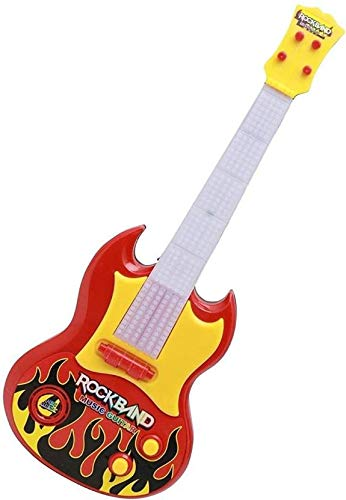 RADHE Red Rockband Musical Instrument Guitar Toy for Kids