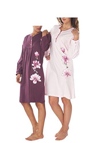 Consult-Tex Damen Nachthemd 2 Stück Packung DF228 50/52 (Stück Nachthemd 2)