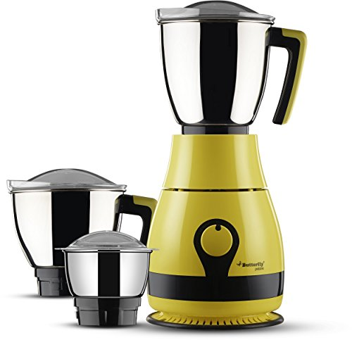 Butterfly Pebble 600-Watt Mixer Grinder with 3 Jars (Yellow)  available at amazon for Rs.2850
