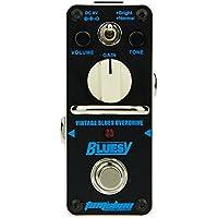 Tom'sline Engineering Pedal de efecto Overdrive BLUESY ABY-3 Estilo clásico de blues basado en los años 70 Marshall blues breaker Dos modos de impulso y pedal de guitarra normal