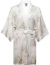 XCXDX Bata De Seda Estampada, Kimono Corto Y Elegante, Bata De Baño Cómoda,