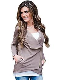 YouPue Mujeres Chaqueta Corta Estilo Casual Jacket Sportswear Sudaderas
