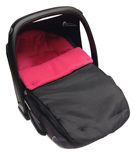 Autositz Fußsack/COSY TOES kompatibel mit Maxi Cosi Pebble dark pink
