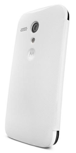 Motorola Flip Shell Hülle Case Cover für Moto G Smartphone - Weiß