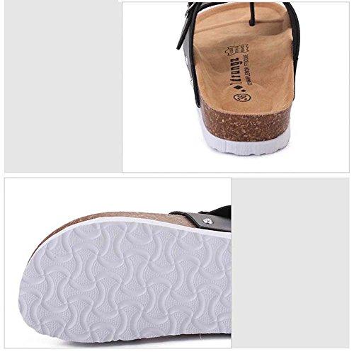 Estate Sandali Studente insacca i sandali del piede Confortevole antiscivolo Colore / formato facoltativo Nero