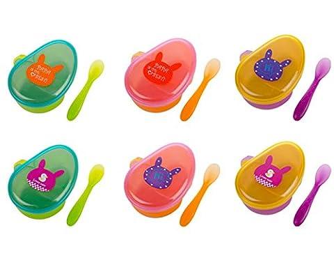 LA HAUTE Baby Feeding Bowl Spoon Set Trainning Tableware With Lid Travel Picnic Food Snacks Storage Box