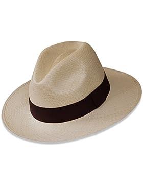 Tumia - Sombrero Panamá Fedora - Versión no Enrollable - Blanco o Natural