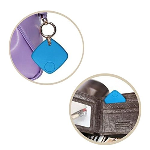 Tesfish Key Finder, Telefon-Finder Bluetooth Anti-verloren Tracker Tracking-Schlüssel Geldbörse Tracer Alarm Finder Patch Locator für IOS und Android-System (blau) - Locator-system