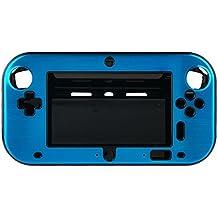 OSTENT Funda de caja de metal duro antichoque aluminio resistente al agua carcasa compatible con Nintendo Wii U Gamepad color azul claro