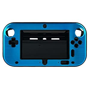 OSTENT Anti-Schock Hard Aluminium Metall Box Cover Case Shell kompatibel für Nintendo Wii U Gamepad Farbe Hellblau
